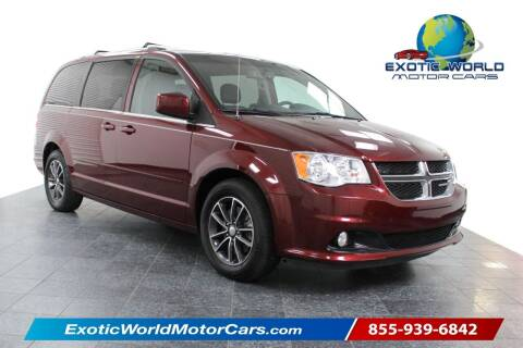 2017 Dodge Grand Caravan for sale at Exotic World Motor Cars in Addison TX