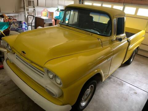 1959 Chevrolet Apache 3100 Fleetside Shortbed for sale at Gateway Auto Source in Imperial MO