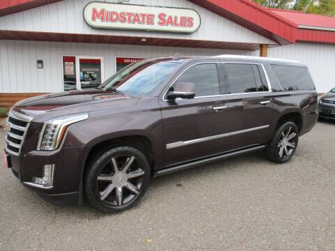 2015 Cadillac Escalade ESV for sale at Midstate Sales in Foley MN