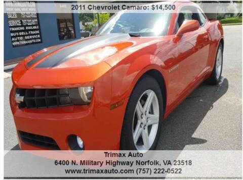 2011 Chevrolet Camaro for sale at Trimax Auto Group in Norfolk VA