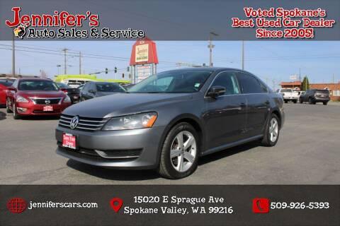 2015 Volkswagen Passat for sale at Jennifer's Auto Sales in Spokane Valley WA