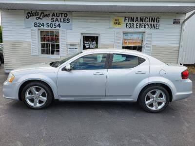 2011 Dodge Avenger for sale at STATE LINE AUTO SALES in New Church VA