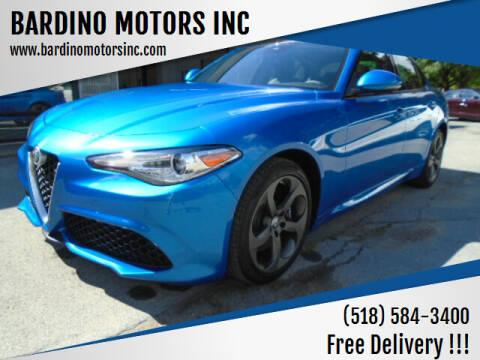 2018 Alfa Romeo Giulia for sale at BARDINO MOTORS INC in Saratoga Springs NY