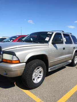 2002 Dodge Durango for sale at WB Auto Sales LLC in Barnum MN
