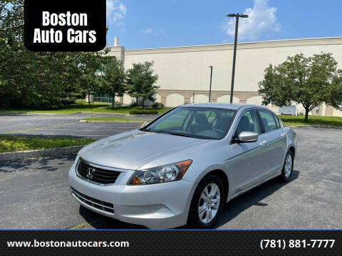 2008 Honda Accord for sale at Boston Auto Cars in Dedham MA