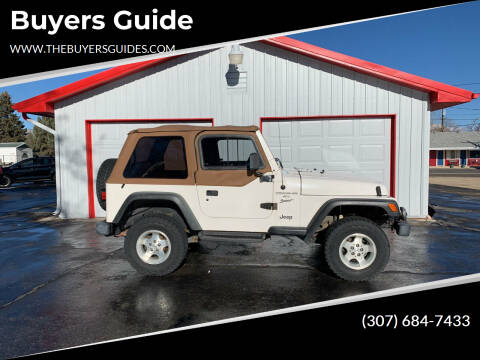 1999 Jeep Wrangler for sale at Buyers Guide in Buffalo WY