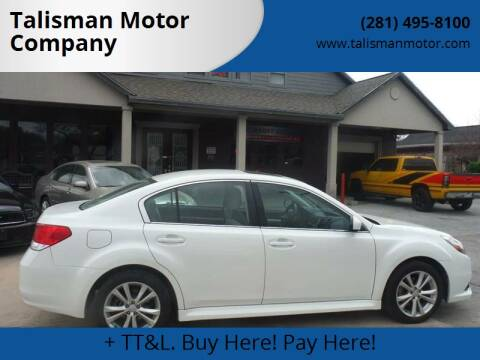 2013 Subaru Legacy for sale at Talisman Motor Company in Houston TX