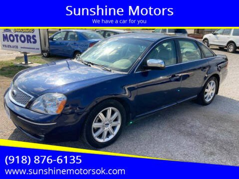 2007 Ford Five Hundred for sale at Sunshine Motors in Bartlesville OK