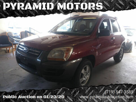 2007 Kia Sportage for sale at PYRAMID MOTORS - Pueblo Lot in Pueblo CO