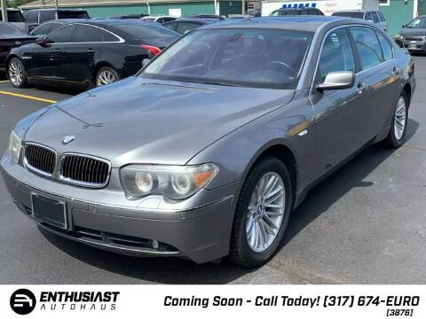 2005 BMW 7 Series for sale at Enthusiast Autohaus in Sheridan IN