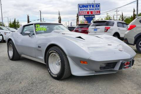 1975 Chevrolet Corvette for sale at United Auto Sales in Anchorage AK