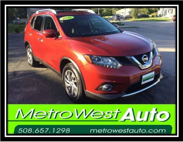 2016 Nissan Rogue for sale at Metro West Auto in Bellingham MA