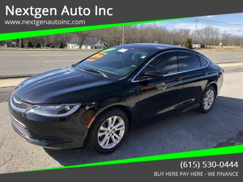 2017 Chrysler 200 for sale at Nextgen Auto Inc in Smithville TN