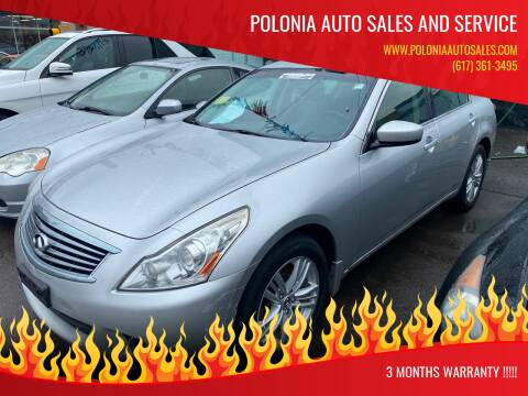 2012 Infiniti G25 Sedan for sale at Polonia Auto Sales and Service in Hyde Park MA