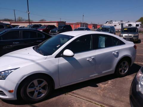 2012 Chevrolet Cruze for sale at BIG 7 USED CARS INC in League City TX
