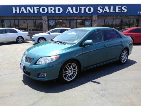 2010 Toyota Corolla for sale at Hanford Auto Sales in Hanford CA