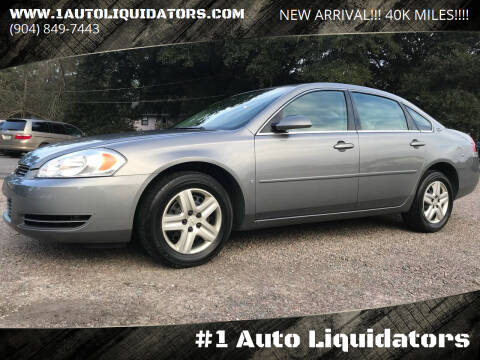 2006 Chevrolet Impala for sale at #1 Auto Liquidators in Yulee FL