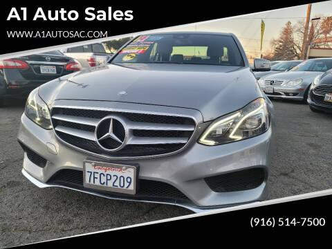 2014 Mercedes-Benz E-Class for sale at A1 Auto Sales in Sacramento CA