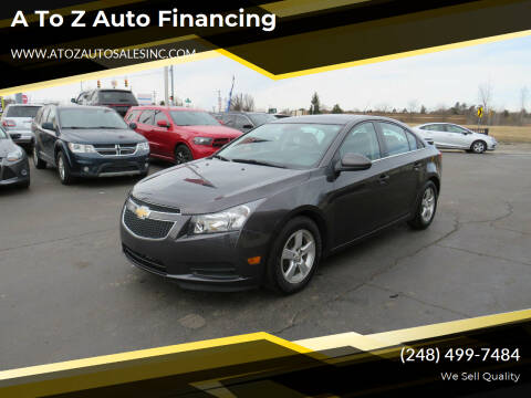 2014 Chevrolet Cruze for sale at A to Z Auto Financing in Waterford MI