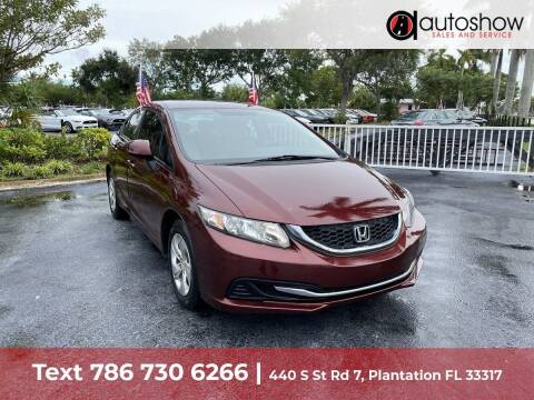 2013 Honda Civic for sale at AUTOSHOW SALES & SERVICE in Plantation FL