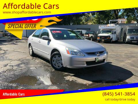 2004 Honda Accord for sale at Affordable Cars in Kingston NY