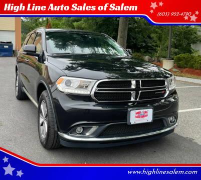 2016 Dodge Durango for sale at High Line Auto Sales of Salem in Salem NH