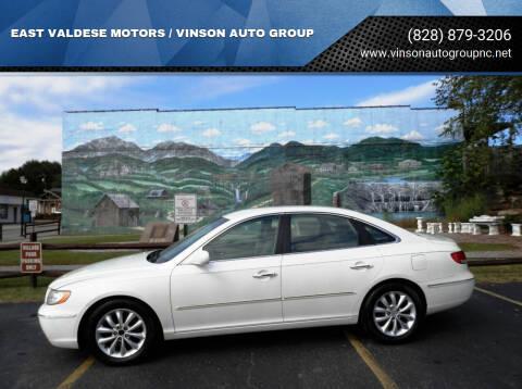 2007 Hyundai Azera for sale at EAST VALDESE MOTORS / VINSON AUTO GROUP in Valdese NC