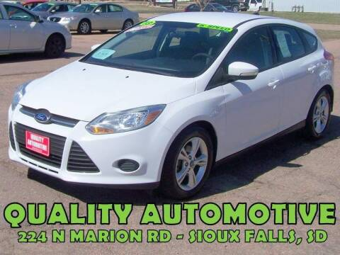 2013 Ford Focus for sale at Quality Automotive in Sioux Falls SD