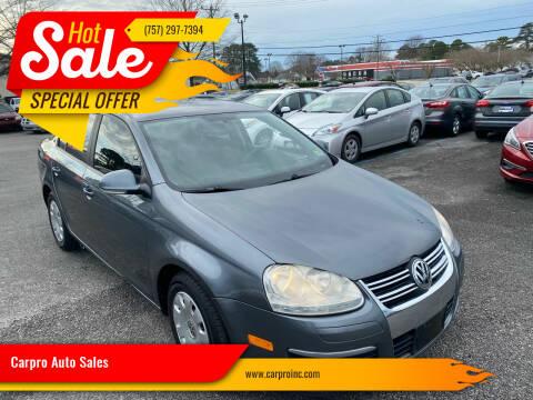 2006 Volkswagen Jetta for sale at Carpro Auto Sales in Chesapeake VA