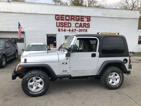 2006 Jeep Wrangler for sale at George's Used Cars Inc in Orbisonia PA