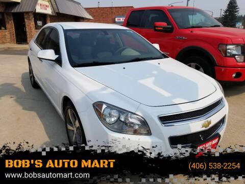2012 Chevrolet Malibu for sale at BOB'S AUTO MART in Lewistown MT