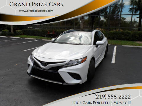 2018 Toyota Camry for sale at Grand Prize Cars in Cedar Lake IN
