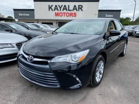 2017 Toyota Camry for sale at KAYALAR MOTORS in Houston TX
