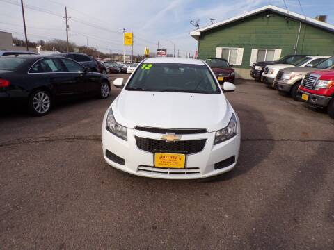 2012 Chevrolet Cruze for sale at Brothers Used Cars Inc in Sioux City IA