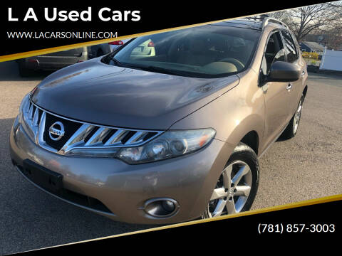 2010 Nissan Murano for sale at L A Used Cars in Abington MA