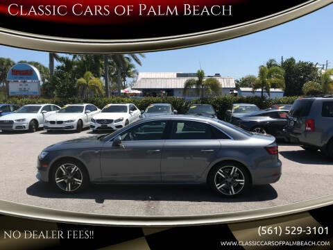 2018 Audi A4 for sale at Classic Cars of Palm Beach in Jupiter FL