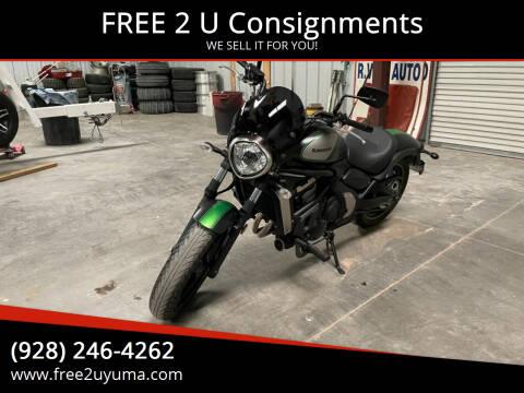 2016 Kawasaki Vulcan for sale at FREE 2 U Consignments in Yuma AZ