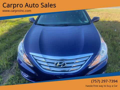 2013 Hyundai Sonata for sale at Carpro Auto Sales in Chesapeake VA