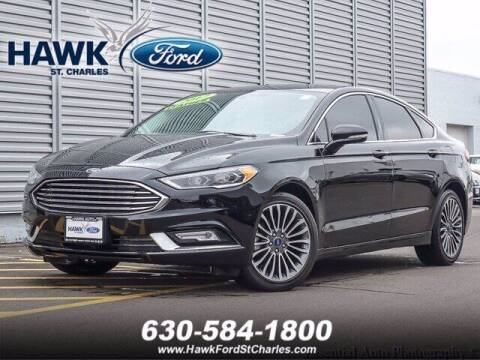 2017 Ford Fusion for sale at Hawk Ford of St. Charles in St Charles IL
