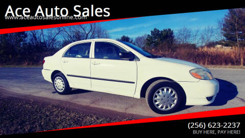 2003 Toyota Corolla for sale at Ace Auto Sales - $600 DOWN PAYMENTS in Fyffe AL