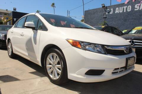 2012 Honda Civic for sale at FJ Auto Sales in North Hollywood CA
