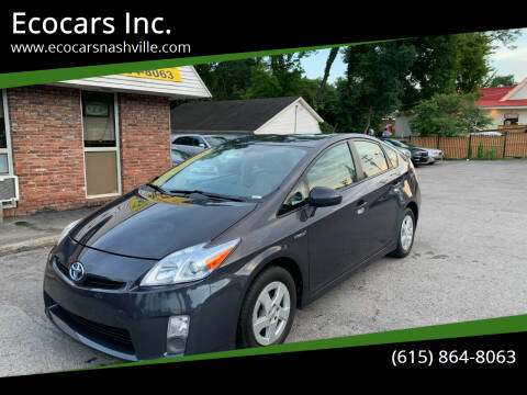2011 Toyota Prius for sale at Ecocars Inc. in Nashville TN