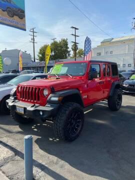 2020 Jeep Wrangler Unlimited for sale at 2955 FIRESTONE BLVD - 3271 E. Firestone Blvd Lot in South Gate CA