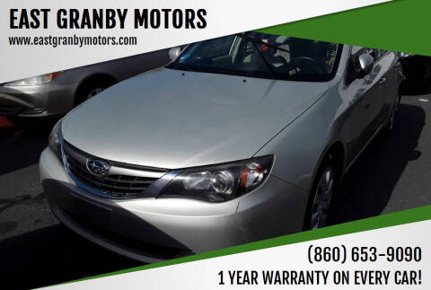 2009 Subaru Impreza for sale at EAST GRANBY MOTORS in East Granby CT