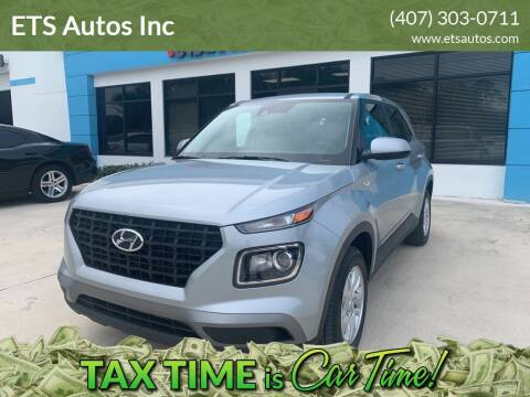 2021 Hyundai Venue for sale at ETS Autos Inc in Sanford FL