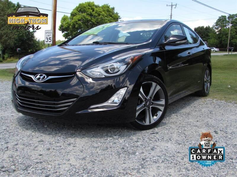 2016 Hyundai Elantra for sale at High-Thom Motors in Thomasville NC