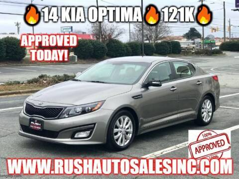 2014 Kia Optima for sale at RUSH AUTO SALES in Burlington NC
