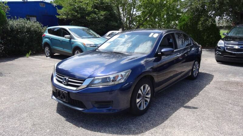 2014 Honda Accord for sale at HOUSTON'S BEST AUTO SALES in Houston TX