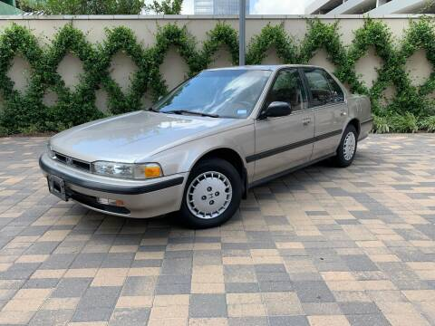 1990 Honda Accord for sale at ROGERS MOTORCARS in Houston TX