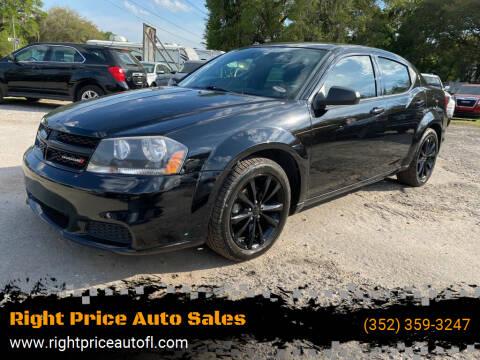 2014 Dodge Avenger for sale at Right Price Auto Sales in Waldo FL